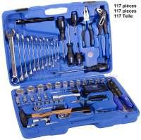 Werkzeugkasten 117 teilig, gute Qualität. Optimal für Werkstatt Grundausstattung und als kompletter Werkzeugkoffer für das Auto. - 21113 - Der Franzose