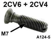 Ventil Einstellschraube (für das Ventilspiel), passend für Citroen 2CV6 + 4. Maß: 7x17,5mm, Gesamtlänge 25mm. Or.Nr. A124-4 - 10361 - Der Franzose