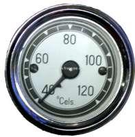 Wasser Temperaturanzeige 120°C. Zifferblatt in weiß. Durchmesser: 52mm. Passend für Citroen 11CV + 15CV. - 60102 - Der Franzose