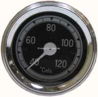 Wasser Temperaturanzeige 120°C. Zifferblatt in schwarz. Durchmesser: 52mm. Passend für Citroen 11CV + 15CV. - 60103 - Der Franzose