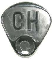 CH-Schild aus Aluminiumguß (ROBRI). Befestigung an dem rechten Rücklicht. Passend für Citroen 11CV + 15CV. - 60551 - Der Franzose