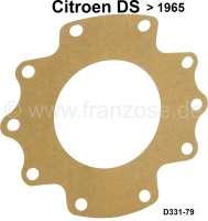 Dichtung direkt am Getriebegehäuse, Abdichtung zu der Antriebswelle. Passend für Citroen DS, bis Baujahr 1965. Or. Nr. D331-79 | 33284 | Der Franzose - www.franzose.de
