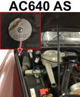Typenschild Farbe: AC640 AS. Befestigt im Motorraum Citroen DS - 37893 - Der Franzose