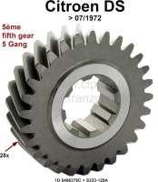 Getriebe Übertragungsritzel (28 Zähne), zwischen Primärwelle und 5er Gang. Passend für Citroen DS (D-Super), bis Baujahr 07/1972. Or. Nr. 1D 5406 376C + S333-129A. - 30379 - Der Franzose