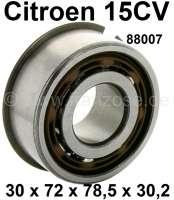 Getriebelager unten (Vorgelegewelle). Passend für Citroen 15CV. Abmessung: 30 x 72,0 x 78,5 x 30,2mm. Or. Nr. 88007 - 60910 - Der Franzose