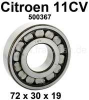 Getriebe Kegelrad Lager, passend für Citroen 11CV. Abmessung: 72 x 30 x 19mm. Or. Nr. 500367. | 60906 | Der Franzose - www.franzose.de