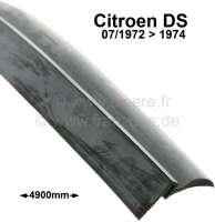 Dachdichtung, für verklebtes Dach (5 Schrauben). Passend für Citroen DS, ab Baujahr 07/1972. Länge: ca. 4900mm. Or. Nr. 5432991A - 35006 - Der Franzose