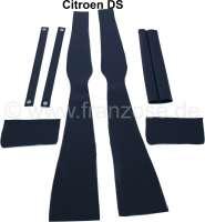 B-Säule Verkleidung (links + rechts). Passend für Citroen DS. Material: Kunstleder schwarz. Or. Nr. DS986-100D + DS986-100E | 38613 | Der Franzose - www.franzose.de