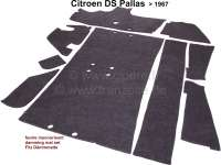 Dämmmattensatz (Filz-Unterteppich), passend für Citroen DS Pallas, bis Baujahr 1967. Diese Filzmatten sind original unter dem Teppich verklebt. Wie Original. - 38449 - Der Franzose