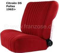 DS Pallas, Sitzbezüge vorne + hinten, Citroen DS Pallas, Farbe dunkelrot. Hohe Rückenlehne ab 1965. Der Sitzbezug ist mittig in Pfeiffen abgesteppt (längsgenäht). - 38053 - Der Franzose