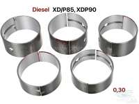 Kurbelwellenlager, Übermaß 0,30. Passend für Citroen HY Diesel. Peugeot 403D, 404D, 504D, J7D. Motor: XD/P85 + XDP90 (1816cc + 2112cc). Abmessung: 0,30 (für Kurbelwellen mit dem Maß 54,694 bis 54,709mm). - 71160 - Der Franzose