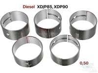 Kurbelwellenlager, Übermaß 0,50. Passend für Citroen HY Diesel. Peugeot 403D, 404D, 504D, J7D. Motor: XD/P85 + XDP90 (1816cc + 2112cc). Abmessung: 0,50 (für Kurbelwellen mit dem Maß 54,494 bis 54,509mm). - 71161 - Der Franzose