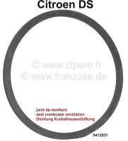 Kurbelhausentlüftung am Motorblock: Dichtung (Flachring-Gummi). Passend für Citroen DS. Or. 5412031. Made in Germany - 30385 - Der Franzose