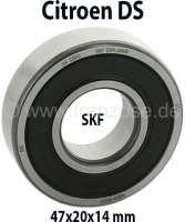Nockenwellenlager vorne (1 Stück / SKF), passend für Citroen DS. Abmessung: 47x20x14 mm (Kugellager geschlossen). Hersteller: SKF | 30360 | Der Franzose - www.franzose.de