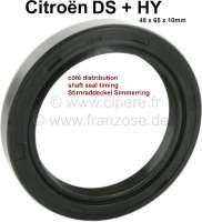 Stirnraddeckel Simmerring, passend für Citroen DS + HY. Maße: 48 x 65 x 10mm. - 30341 - Der Franzose