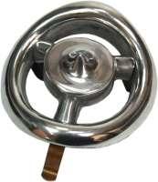 Abdeckung für das Handkurbelloch im Kühlergrill. Runde Form. Passend für Citroen 11CV BL. Or. Nr. 331137R | 60638 | Der Franzose - www.franzose.de