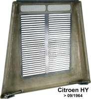 Motorhaube (neus Modell). Passend für Citroen HY, ab Baujahr 09/1964. Die Motorhaube ist eine Kombination aus GFK und Metall. Gut verarbeitet. Incl. oberen Scharnier und untere Verriegelung. Or. Nr. HY852-01B -1 - 44921 - Der Franzose