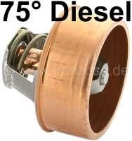 Thermostat 75°. Diesel. Passend für Peugeot 404 alle Diesel, J7 D,J9 D. Citroen HY Diesel. Motor: XD85, XD88, XDP88. - 72043 - Der Franzose