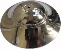Radkappe aus Edelstahl, poliert. Passend für Citroen 11CC. Durchmesser: 260mm. Höhe über alles: 80mm. | 60704 | Der Franzose - www.franzose.de