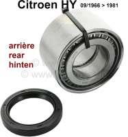 Radlagersatz hinten. Passend für Citroen HY, von Baujahr 09/1966 bis 1981. Radlager: 90 x 45 x 50mm.   48370   Der Franzose - www.franzose.de