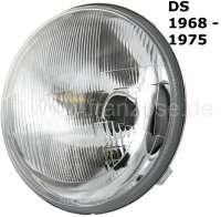 Hauptscheinwerfer H4. Passend für Citroen DS, ab Baujahr 1968. Durchmesser über alles: 190mm. Guter Nachbau. Or. Nr. DX541-4WDX - 37030 - Der Franzose
