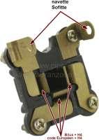 Lampenstecker, der auf die Bilux oder H4 Birne kommt. Der Stecker hat auch gleichzeitig eine Fassung für eine Soffitte. Falls ein Fahrzeug mit Standlicht nachgerüstet werden muss, kann dieser Stecker benutzt werden. Nur ein Loch in den Reflektor bohren, neues Kabel legen und schon fertig. Universal passend! - 60715 - Der Franzose