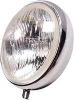 Scheinwerfereinsatz Marchal. Passend für Citroen 11CV + 15CV. 191mm, incl. Chromring. Der Scheinwerfer ist ohne Lampenfassung! Die passende Lampenfassung finden Sie unter der Nummer 60798. Die Fassung 60798 hat auch eine zusätzliche Fassung für das Standlicht (Sofitte). -1 - 60874 - Der Franzose