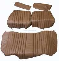 Sitzbezug Rücksitzbank, (Sitzfläche in 1 Stück, Rückenlehne in 4 Teile). Passend für Citroen DS. Leder tabak. - 38145 - Der Franzose