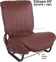 Sitzbezug braun, aus echten Leder (links oder rechts passend). Passend für  Citoen HY, ab Baujahr 09/1970 (3 Serie). - 48310 - Der Franzose