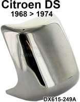 Chromabdeckung mittig vorne auf der Stoßstange. Passend für Citroen DS, ab Baujahr 1968. Or. Nr. DX615-249A - 36541 - Der Franzose