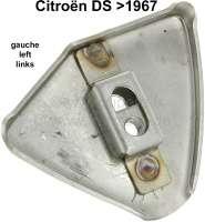 Endspitze links (Befestigungsplatte mit Käfigmutter), für die Stoßstange vorne (zum einschweißen). Passend für Citroen DS, bis Baujahr 1967. Hergestellt aus Edelstahl. - 36548 - Der Franzose