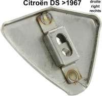 Endspitze rechts (Befestigungsplatte mit Käfigmutter), für die Stoßstange vorne (zum einschweißen). Passend für Citroen DS, bis Baujahr 1967. Hergestellt aus Edelstahl. - 36549 - Der Franzose