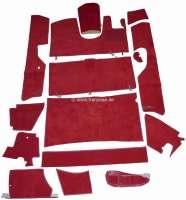 DS Pallas RHD, Teppichsatz 14 teilig, Farbe rot. Passend für Citroen DS Pallas, rechtsgelenkt. Gute Qualität. Der Teppichsatz wird ohne Schaumstoff und ohne Filzmatten geliefert. - 38370 - Der Franzose