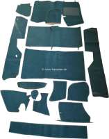 DS Pallas, Teppichsatz 14 teilig, für Citroen DS Pallas. Farbe: dunkelgrün. Gute Qualität. Die Teppiche werden ohne Schaumstoff und Filzmatten geliefert. - 38293 - Der Franzose