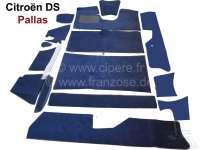 DS Pallas, Teppichsatz 14 teilig, für Citroen DS Pallas. Farbe: dunkelblau. Gute Qualität. Die Teppiche werden ohne Schaumstoff und Filzmatten geliefert. | 38295 | Der Franzose - www.franzose.de