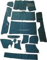 DS Non Pallas, Teppichsatz 14 teilig. Farbe dunkelgrün. Dieser Teppichsatz ist für normale Citroen DS mit Bremspedal, die optisch auf Pallas umgebaut werden sollen. Der Teppichsatz wird ohne Schaumstoff und Filzmatten geliefert. | 38358 | Der Franzose - www.franzose.de