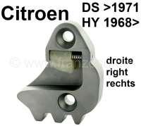Schlossfalle rechts. Passend für Citroen DS, bis Baujahr 1971 (wird 2x benötigt). Citroen HY, ab Baujahr 1968 (wird 1x benötigt). Or. Nr. D861-79C - 37753 - Der Franzose