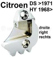 Schlossfalle rechts, verchromt. Passend für Citroen DS Pallas, bis Baujahr 1971 (wird 2x benötigt). Citroen HY, ab Baujahr 1968 (wird 1x benötigt). Or. Nr. D861-79C - 37771 - Der Franzose