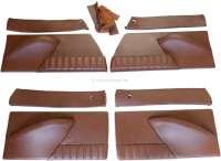 DS Pallas, Türverkleidungen (4 Stück). Leder schokoladen braun, incl. 4x Bezug aus Leder, oberhalb der Tür. Passend für Citroen DS. Montagefertig! - 38075 - Der Franzose