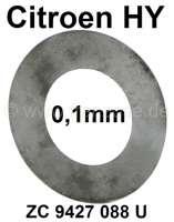 Ausgleichscheibe (0,1mm), für die Verbindungsachse zwischen den unteren Tragarmen der Vorderachse. Passend für Citroen HY. Or. Nr. ZC 9427 088 U | 44875 | Der Franzose - www.franzose.de