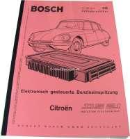 Citroën DS 21 Einspritzer. Reparaturanleitung für die Bosch Einspritzung. Ausgabe 01/1970. Nachfertigung. Sprache: Deutsch. | 38216 | Der Franzose - www.franzose.de