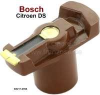 Bosch, Verteilerfinger System Bosch. Passend für Citroen DS21 + DS23 IE. Länge über alles: 49mm. Höhe über alles: 30mm. Innendurchmesser: 14mm. Aufstecktiefe: 18mm. Je nach Verfügbarkeit, wird der Verteilerfinger von einen anderen Markenhersteller geliefert. - 34070 - Der Franzose