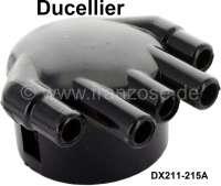Ducellier, Verteilerkappe, nebeneinander liegende Ausgänge. Passend für Citroen DS 20, ab Baujahr 09/1965. DS 21, ab Baujahr 01/1970. Or. Nr. DX211-215A. - 34107 - Der Franzose