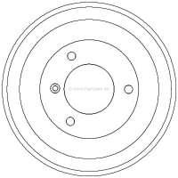 Bremstrommel C15 hinten 228,6mm Durchmesser Lochzahl 3 | 43013 | Der Franzose - www.franzose.de