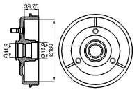 Bremstrommel hinten LNA/Visa 180mm Durchmesser! Höhe innen 49mm. Made in Europe. | 44311 | Der Franzose - www.franzose.de