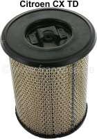 Luftfiltereinsatz Citroen CX TD. Höhe: 230mm. Außendurchmesser: 170mm. Innendurchmesser: 95mm. Bohrung oben im Deckel: 8,0mm. Passend für Citroen CITROEN CX I (MA) 25 D (95hp) Turbo, von Baujahr 04/1983 bis 04/1985. Citroën CX Break I 2500 D Turbo (95PS), von Baujahr 04/1983 bis 04/1985. CX 25 D (95PS) Turbo, von Baujahr 08/1985 bis 08/1986. Citroën CX Break II 2500 D Turbo (95PS), von Baujahr 08/1985 bis 08/1986. | 40035 | Der Franzose - www.franzose.de