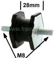 Gummi-Silenthalter M8. Durchmesser: 40mm. Bauhöhe: ca. 28mm. Gewinde: M8 | 82990 | Der Franzose - www.franzose.de