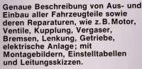 Reparaturanleitung Citroen CX Herbst 1974 bis 1981. Nachdruck vom Bücheli Verlag! Band 612. -1 - 79006 - Der Franzose