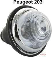 P 203, Blinker vorne. Passend für Peugeot 203. Gute Nachfertigung. Aussendurchmesser: 73mm.  Or. Nr. 6302.24 - 75353 - Der Franzose