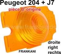 P 204/J7, Blinkerkappe Unterteil rechts. Passend für Peugeot 204 + J7. - 75343 - Der Franzose